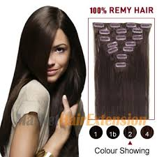 remy hair extensions buy 16 brown 2 7pcs clip in indian remy hair extensions