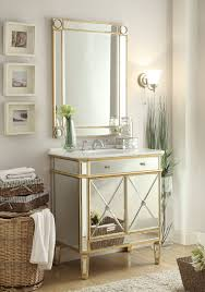 adelina 32 inch mirrored gold bathroom vanity u0026 mirror
