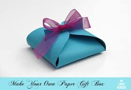 How To Make A Box With Paper - make your own paper gift box lines across