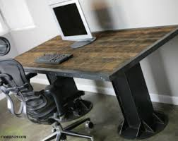 French Industrial Desk Vintage Industrial Desk Modern Industrial Table French