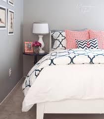 quatrefoil design in home decor navy coral bedroom coral