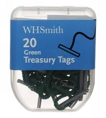 treasury tags whsmith green treasury tags pack of 20 whsmith