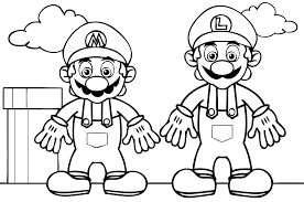 super mario bros coloring pages kids printable coloring