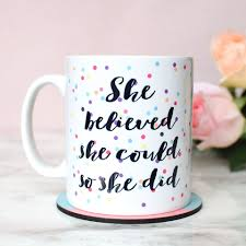 she believed she could so she did confetti mug statement mug