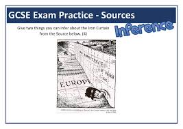The Iron Curtain Speech Iron Curtain Gcse Inference Source Question Teaching Resource
