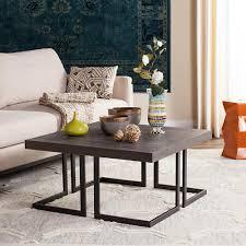 dark gray coffee table safavieh malone chrome high gloss gray coffee table fox2214c the