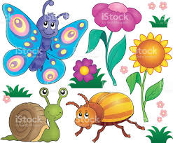 spring animals and insect theme set 2 stock vector art 527661844