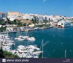 Menorca Spain Map by Mahon Town Harbour Menorca Spain Stock Photos U0026 Mahon Town Harbour