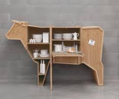 animal wood seletti sending cow animal wood crate shelf cabinet zillymonkey
