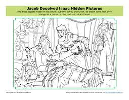 jacob deceived isaac hidden pictures activity children u0027s bible