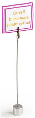 sign holder clip alligator clip holder 9 height