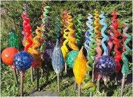 blown glass garden gardening ideas