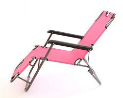 2 x charles jacobs stylish sun lounger reclining chairs pink