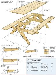 Foldable Picnic Table Bench Plans by Free Printable Woodworking Plans Picnic Table Build