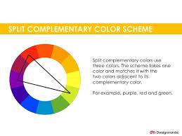 complementary colors split complementary color scheme split