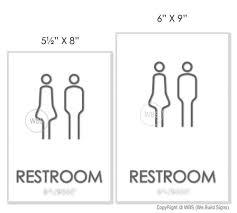 gender neutral restroom sign noa 01 unisex bathroom signage