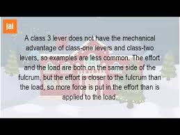 what is a class 3 lever youtube