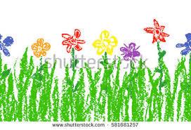 wax crayon kids hand drawn colorful stock vector 520588951