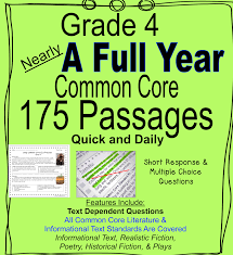 5th grade fiction reading passages 175 grade 4 daily common reading passages reading practice
