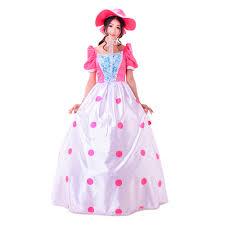 Endora Halloween Costume Toy Story Bo Peep Cosplay Costume Pink Dress Hat Halloween