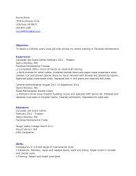 Building Maintenance Resume Samples resume hvac resume sample