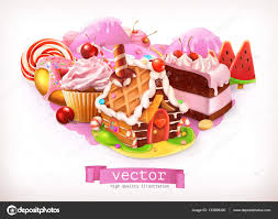 Sweet House Sweet Shop Pink Confectionery And Desserts Gingerbread House