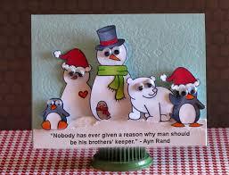 ayn rand christmas cards