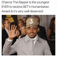 Rapper Memes - chance the rapper is the youngest ever to receive bet s