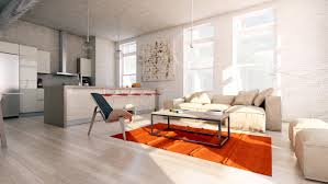 Loft Style Living Room Stylish Exposed Brick Wall Lofts