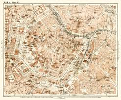 map of vienna map of vienna wien center in 1910 buy vintage map replica