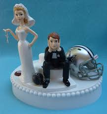 and chain cake topper wedding cake topper dallas cowboys football themed and chain