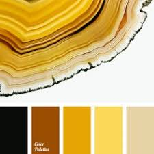 Yellow Color Combinations Rich Yellow Color In This Palette Is Muted By A Darker Shades