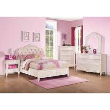 Coaster Caroline Bedroom Set With Diamond Tufted Headboard In Pink - Tufted headboard bedroom sets