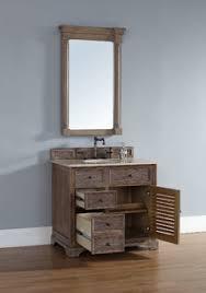 Coastal Bathroom Vanity 36 Inch Savannah Driftwood Grey Single Sink Vanity Beach Style