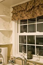 corner kitchen ideas kitchen decorative brown floral kitchen window curtain ideas over