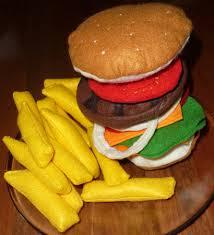 jouer a cuisiner hamburger en feutrine frites en feurine felt food jouer à