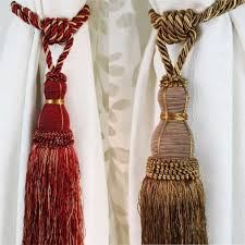 Hanging Curtain Tie Backs How To Use Curtain Tie Back Tassels Nrtradiant Com