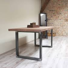Wood Table With Metal Legs Kitchen Amazing Industrial Metal Table Dining Table Metal Legs