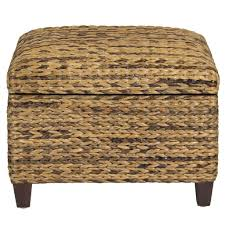 Seagrass Storage Ottoman Woven Seagrass Storage Ottoman Brown Best Choice Products
