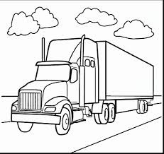 free printable truck coloring image gallery truck and trailer
