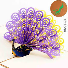 3d cards peacock pop up card for birthday teacher u0027s day father u0027s