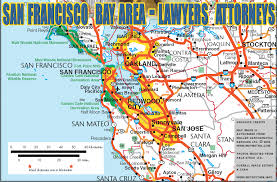 san francisco map of usa san francisco and oakland bay area attorneys lawyers for personal