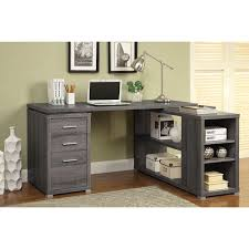 corner desk with drawers corner desk with shelving unit weathered gray u2013 aki home com