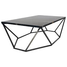 Small Coffee Table Dusk Coffee Table Small In Polished Black Marble And Blackened