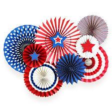 Blue Flag Stars In Circle Stars U0026 Stripes Party Fans U2013 My Mind U0027s Eye Paper Goods
