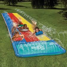 Backyard Slip N Slide Slip U0027n U0027 Slide Hydroplane Triple Deluxe Backyard Water Slide Ebay