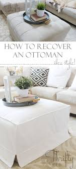 How To Make An Ottoman From A Coffee Table How To Make A Slipcover For An Ottoman Or Coffee Table Ikea Style