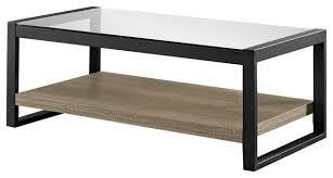 Black Glass Coffee Table 48