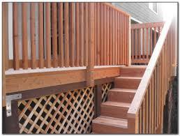 wood deck stair railing designs decks home decorating ideas