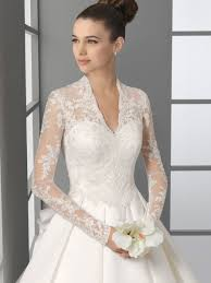 lace wedding gown lace sleeved wedding gown fashionoah